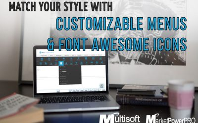 MarketPowerPRO has Customizable Menus with Font Awesome Icons!