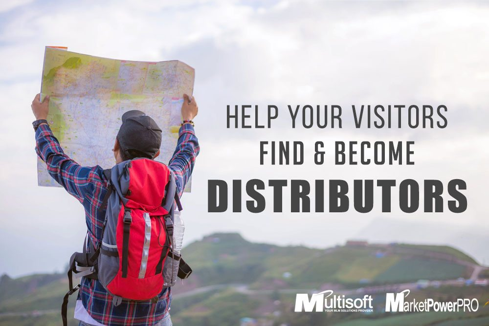 Help Your Visitors Find & Become Distributors