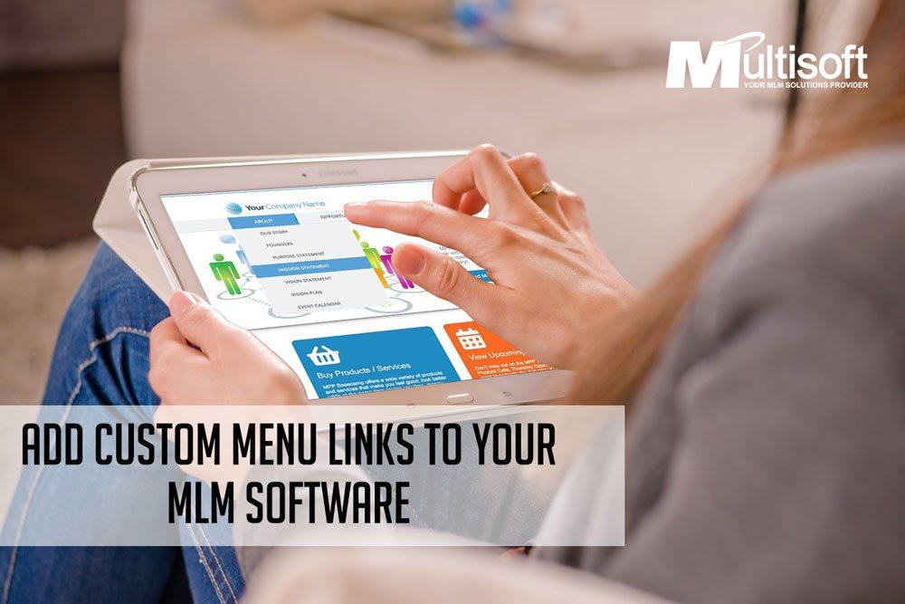 Add Custom Menu Links to Your MLM Software